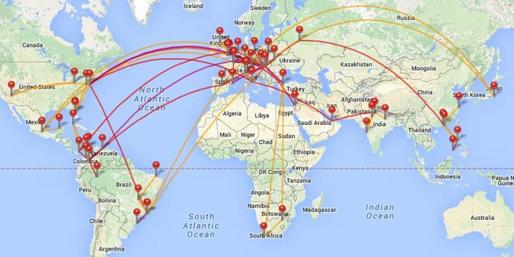 repülő térkép Utazásaim számokban: legek, kedvencek, statisztikák | utazási  repülő térkép