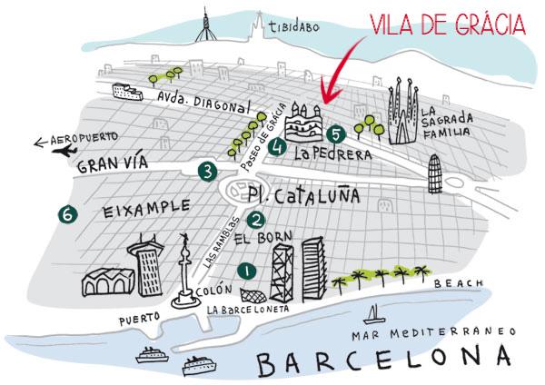 barcelona térkép Barcelonai élmények és okosságok | Barcelona látnivalók, utazás  barcelona térkép